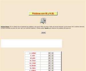 Palabras con M y N (VI), ortografía interactiva