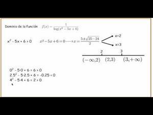 Dominio de función con logaritmo en denominador. Cibermatex
