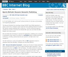 Sports Refresh: Dynamic Semantic Publishing (Jem Rayfield, BBC)