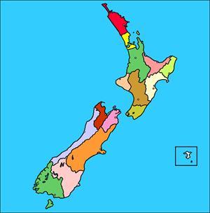 Mapa interactivo de Nueva Zelanda: división política y capitales (luventicus.org)