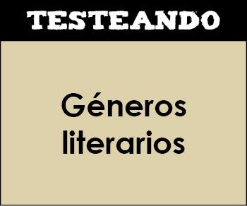 Géneros literarios. 6º Primaria - Lengua (Testeando)