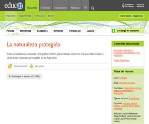 La naturaleza protegida