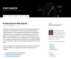 Faceted Search with Sphinx