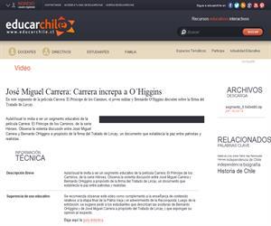 José Miguel Carrera: Carrera increpa aO´Higgins (Educarchile)