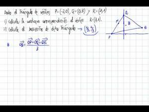 Cálculo del baricentro (fórmula)