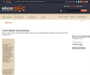 Curiosidades eleccionarias (Educarchile)