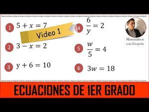 Ecuaciones lineales (de 1er grado). Video 1 de 8. #MateYisus