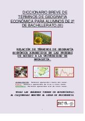 Diccionario de Geografía económica