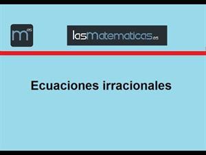 Ecuación irracional sencilla