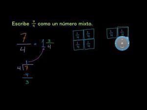 Transformar una fracción impropia a número mixto (Khan Academy Español)