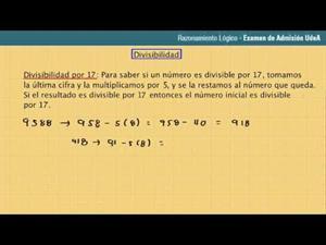 Lección 37: Criterio de divisibilidad por 17