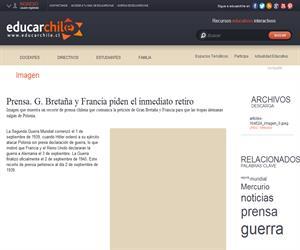 Prensa. G. Bretaña y Francia piden el inmediato retiro (Educarchile)