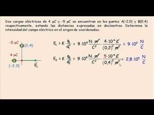 Campo eléctrico: Principio de Superposición. Cibermatex
