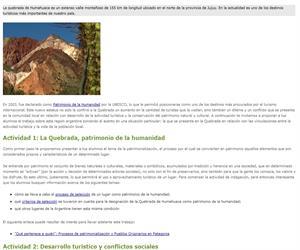 Turismo y patrimonio: la quebrada de Humahuaca