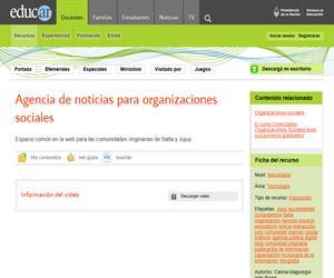 Agencia de noticias para organizaciones sociales