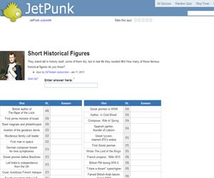 Short Historical Figures
