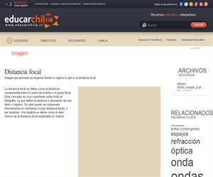 Distancia focal (Educarchile)