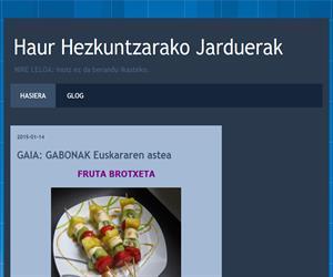 Haur Hezkuntzarako Jarduerak (Blog Educativo de Educación Infantil)
