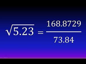 Cálculo fácil de una raíz cuadrada con decimales (Método hindú, Bakhshali) (Ejemplo 3)