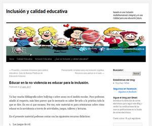 Educar en la no violencia es educar para la inclusión.