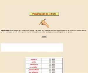 Palabras con H (I), ortografía interactiva