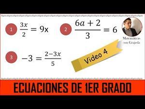 Ecuaciones lineales (de 1er grado). Video 4 de 8