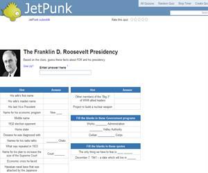 The Franklin D. Roosevelt Presidency