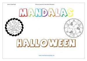 Colección de Mandalas de Halloween y recopilatorio de recursos