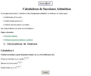 Calculadoras de progresiones aritméticas