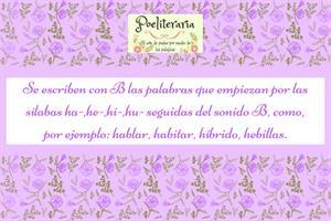 SECUENCIACIÓN ORTOGRÁFICAS. LAS REGLAS DE LA B. PALABRAS QUE EMPIEZAN POR HA-, HE-, HI-, HU- SEGUIDAS DE B.