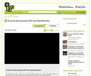 El secret de les paraules (CEIP Germanes Bertomeu) (Edu3.cat)