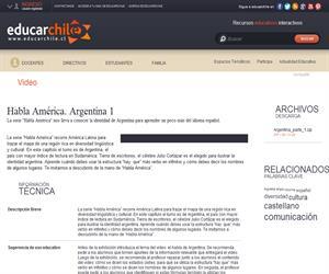 Habla América. Argentina 1 (Educarchile)