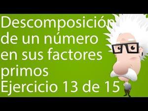 Descomposición de un número en sus factores primos. Ejercicio 13 de 15 (Tareas Plus)