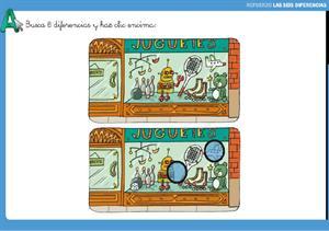 Busca las diferencias: juego interactivo de Atención visual