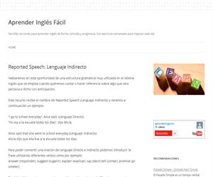 Reported Speech: Lenguaje Indirecto (aprenderinglesfacil)