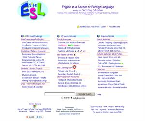 Isabel's ESL Site: English as a Foreign/Second Language in Secondary Education