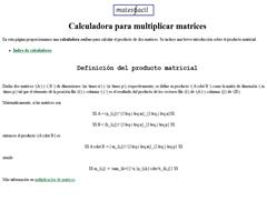 Calculadora para multiplicar matrices