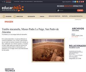 Tumba atacameña, Museo Padre Le Paige, San Pedro de Atacama (Educarchile)