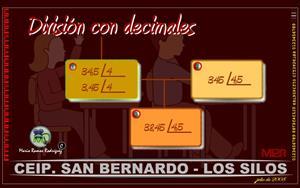 Operaciones con números decimales: División