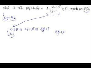 Recta perpendicular a una dada pasando por un punto