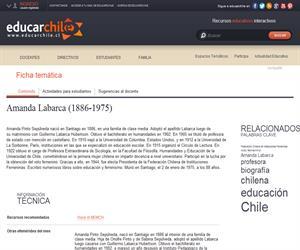 Labarca, Amanda (1886-1975) (Educarchile)