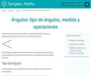 Ángulos: tipo de ángulos, medida y operaciones