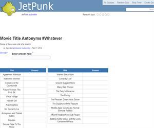 Movie Title Antonyms (Whatever)