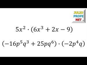 Multiplicación de monomio por polinimio