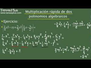 Multiplicación rápida de dos polinomios algebraicos. Problema 13 de 15 (Tareas Plus)