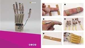 Cómo construir una mano robótica que emula a la humana (Microsoft)