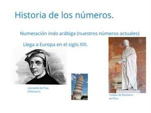 Historia de los números Tipos de números