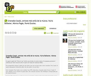 Granados-Casals, amistat més enllà de la música. Núria Ballester, Mònica Pagès, Romà Escalas. (Edu3.cat)