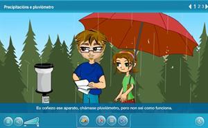 Precipitacións e pluviómetro  (Proyecto Agrega)