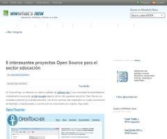 6 interesantes proyectos Open Source para el sector educación